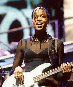 Bassist Yolanda Charles