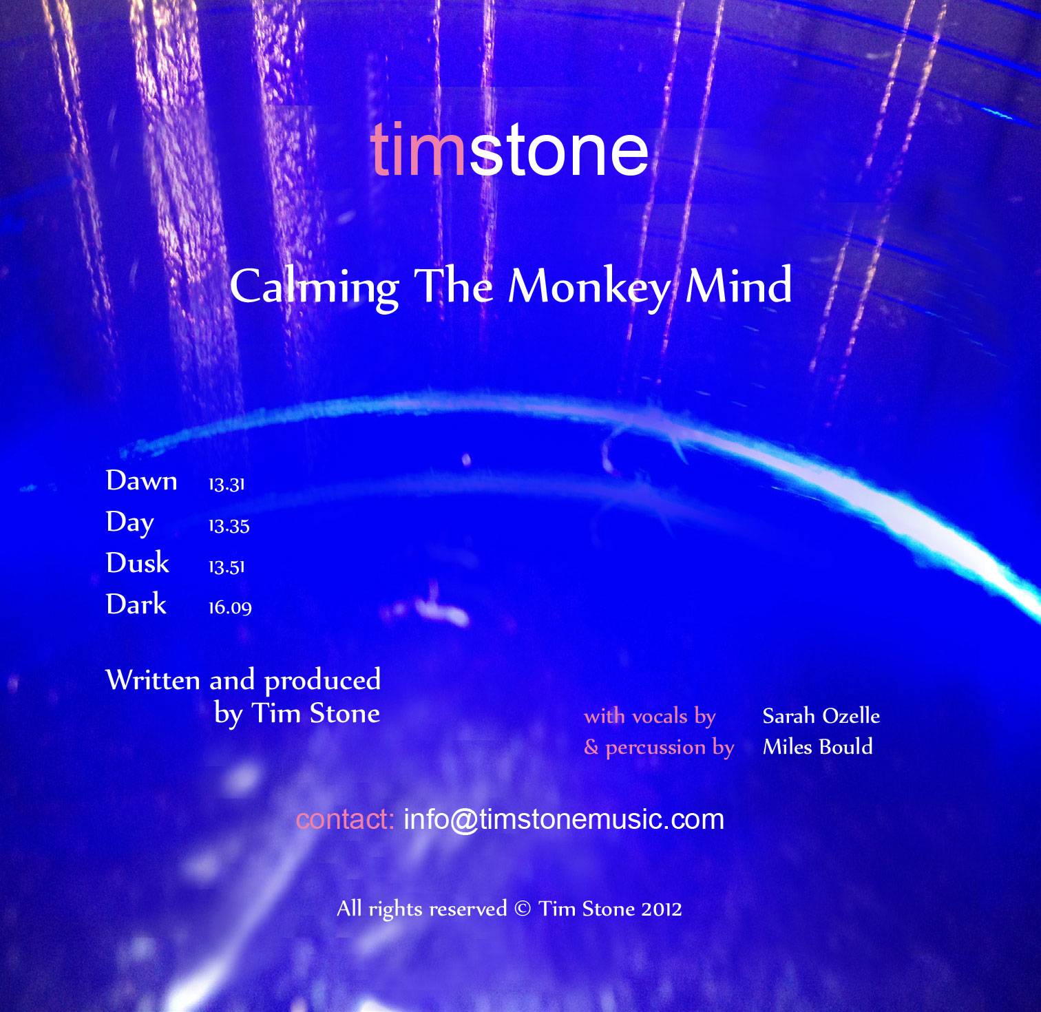 Calming the monkey mind cd cover by Tim Stone